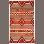 A Navajo transitional weaving, 9ft 2in x 5ft 3in