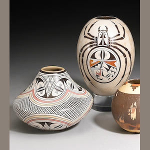 Two Hopi polychrome vessels, Naha family