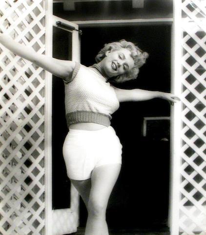 Andre de Dienes (Romanian/American, 1913-1985); Marilyn Monroe, Bel Air Hotel, Stone Canyon;