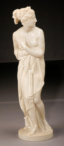 A carved marble figure of the Venus Italica