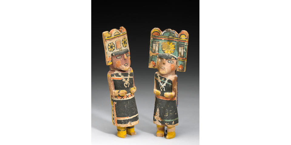 Two Hopi kachina dolls