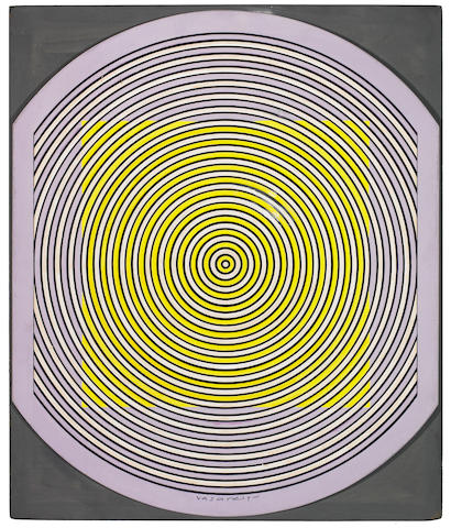Victor Vasarely (Hungarian, 1906-1997) Malna, 1964 16 3/4 x 16 3/4in (42.5 x 42.5cm)