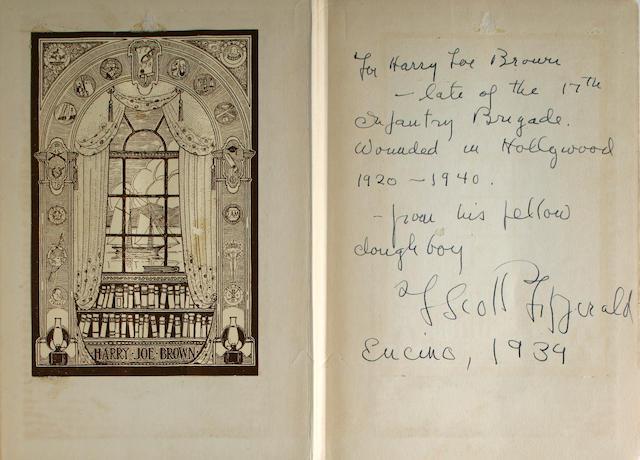 FITZGERALD, F. SCOTT. 1896-1940.