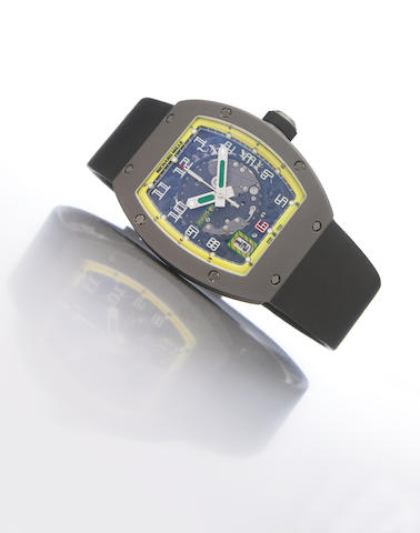 Richard Mille. A fine and rare limited-edition self-winding titanium wristwatch with calendar RM005, Fillipa Massa, No.229/300, Movement No.2125, made in 2005