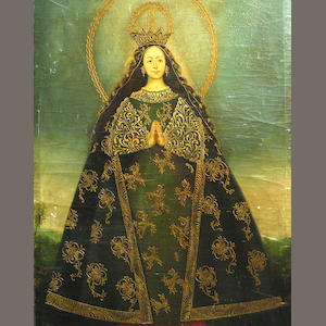 Spanish Colonial 19th C., The Virgin Mary, o/c