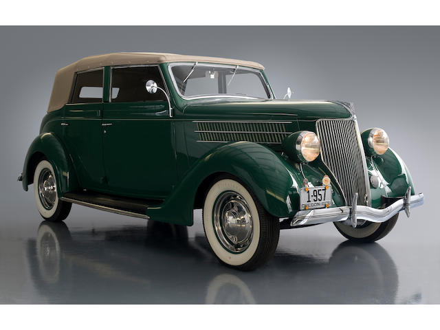 The Dearborn Award-Winning, AACA Senior National First Prize,1936 Ford Model 68 Deluxe Convertible Sedan  Chassis no. 2922717