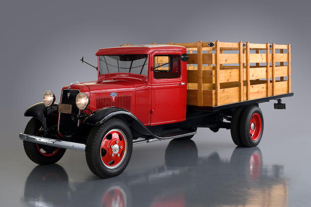 The Dearborn Award-Winning,1934 Ford Model BB V8 1 1/2-Ton Stake Bed Truck  Chassis no. BB18-895504
