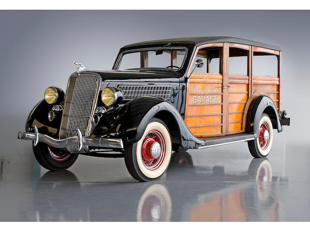 Formerly owned by a prominent member of the British Racing Drivers' Club,1935 Ford Model 48 Deluxe Station Wagon