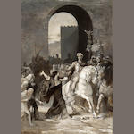 Urbain Bourgeois (French, 1842-1911) The return of Caesar 19 x 13in (48.2 x 33cm)