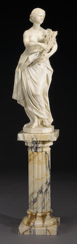 A carved marble figure of Ceres
