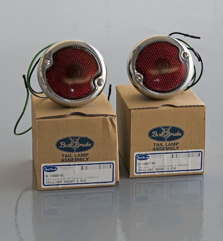A pair of 1934-1941 Ford commercial reproduction tail lamps by Bob Drake,