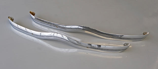 A pair of 1936 original front and rear bumpers,