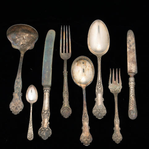 Plated Charter Oak Flatware Set by 1847 Rogers Bros.