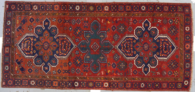 A Northwest Persian rug size approximately 4ft x 9ft