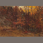 John Joseph Enneking (American, 1841-1916) Autumn Twilight 10 x 14in