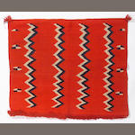 A Navajo fancy saddle blanket, 2ft 9in x 2ft 4in