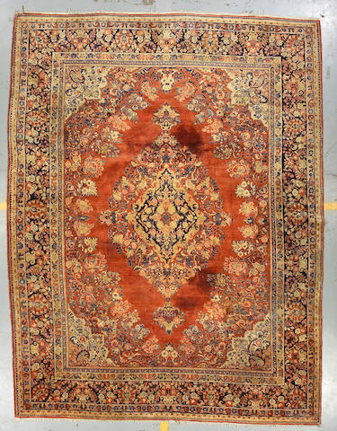 A Sarouk carpet size approximately 9ft x 11ft 11in