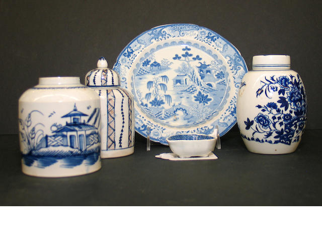 A assembled group of English ceramics, late 18th/early 19th century