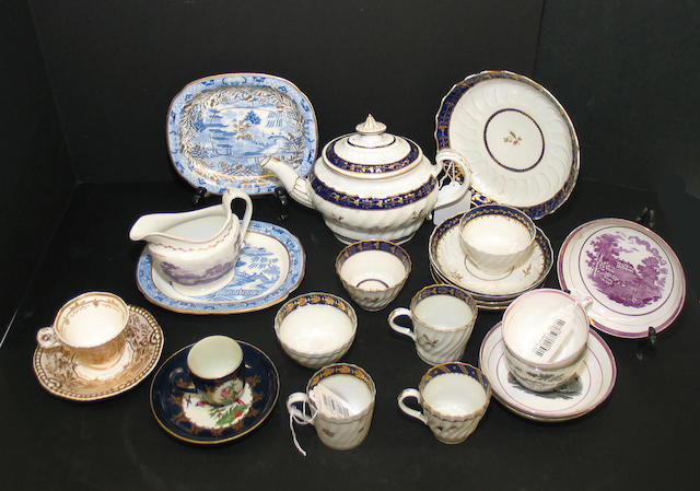 An assembled group of English porcelain