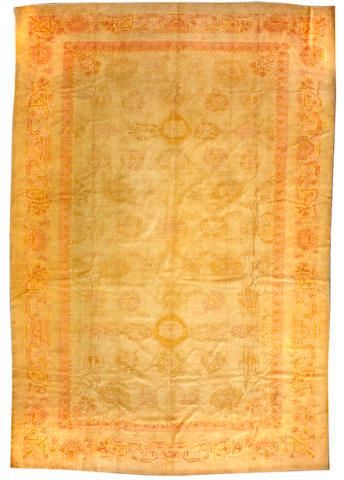 An Oushak carpet West Anatolia size approximately 12ft x 18ft 2in