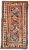 A Kazak rug Caucasian, late 19th century size approximately 4ft 5in x 7ft 10in