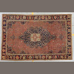 A Fereghan carpet size approximately 6ft 8in x 10ft 4in