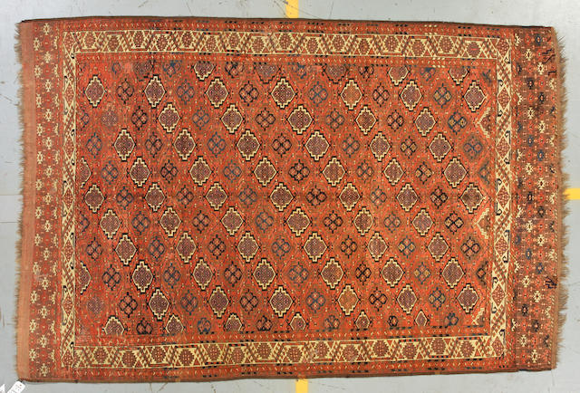 A Choudour Turkoman carpet   size approximately 6ft 7in x 10ft
