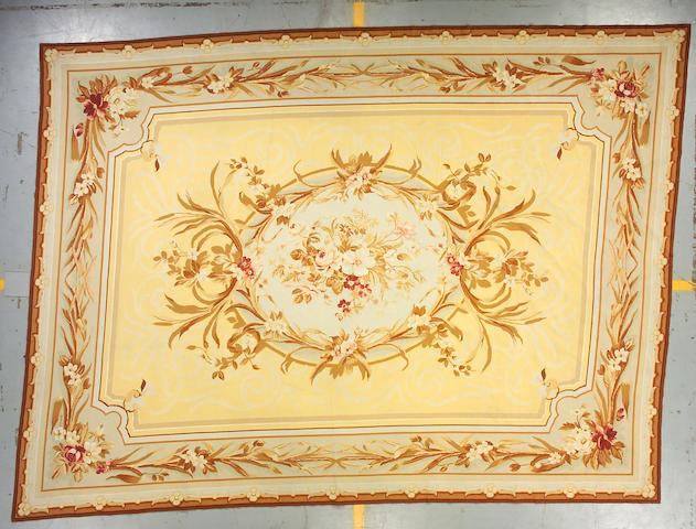 A Chinese Aubusson style carpet size approximately 9ft 3in x 12ft 5in