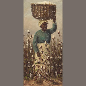 William Aiken Walker (American, 1838-1921) Female Cotton Picker 8 x 4in