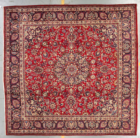 A Meshed carpet size approximately 9ft 11in x 10ft 2in