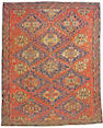 A Soumakh carpet Caucasian size approximately 8ft 7in x 10ft 11in