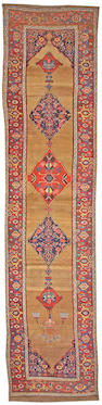 A Bidjar runner, Late 19th Century, Northwest Persia