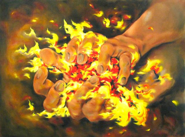 Megan Williams (20th century) Fireball, 1996-1997 36 x 48in