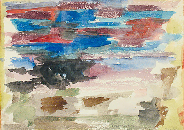 Enzo Brunori (Italian, 1924-1993) Ombre Sul Mare, 1957 9 1/2 x 12 1/2in