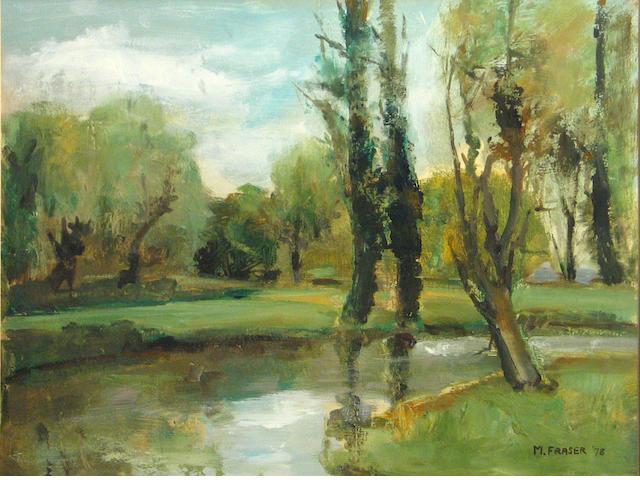 M. Fraser, River, o/bd, 14 X 18