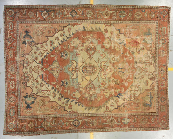 A Serapi carpet Northwest Persia size approximately 9ft 2in x 12ft 3in