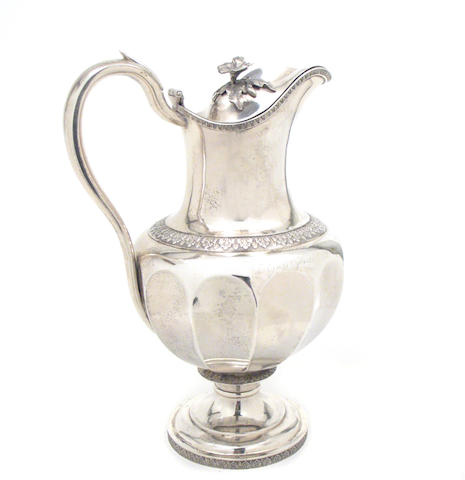 American Coin Silver Covered Pitcher