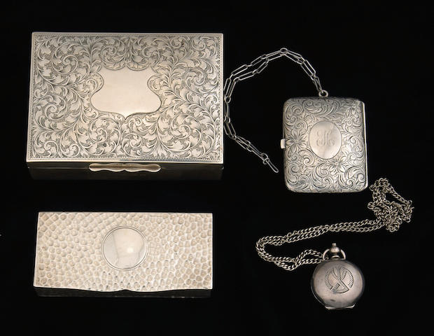 Group of Sterling Boxes and Cases