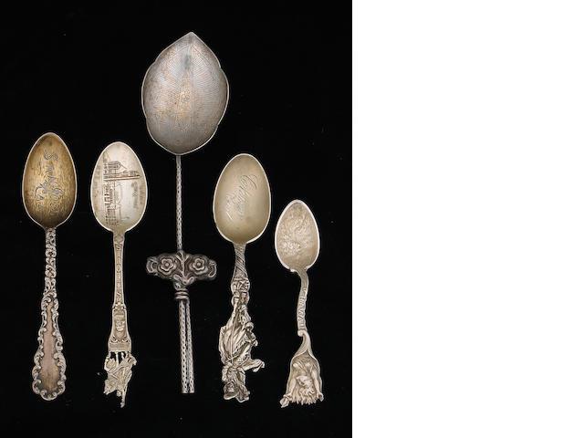 Quantity of Silver Souvenir Spoons