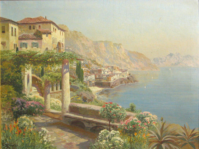 Gottfried Arnegger, Capri, oil on canvas, 24 x 31 inches