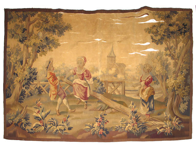A French Aubusson style tapestry