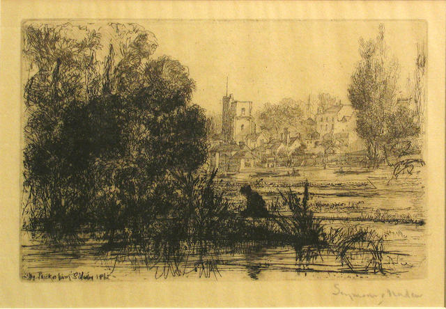 Francis Seymour Haden (British, 1818-1910); Twickenham Church;