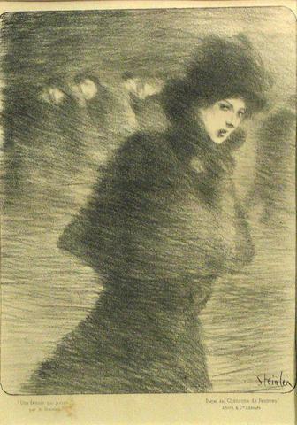 Théophile Alexandre Steinlen (Swiss/French, 1859-1923); Three Parisian Street Scenes; (3)