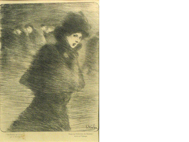 TH. STEINLEN Street scene; Ouvriers sortant de l'usine; Femme que Passe lithograph