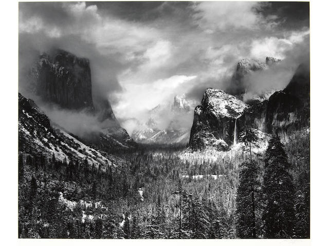 Ansel Adams (American, 1902-1984); Clearing Winter Storm, Yosemite National Park, California;