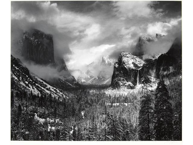 Ansel Adams (American, 1902-1984); Clearing Winter Storm, Yosemite National Park, California;