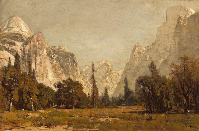 Thomas Hill (1829-1908) A View of Yosemite Valley 14 1/4 x 21 1/4in