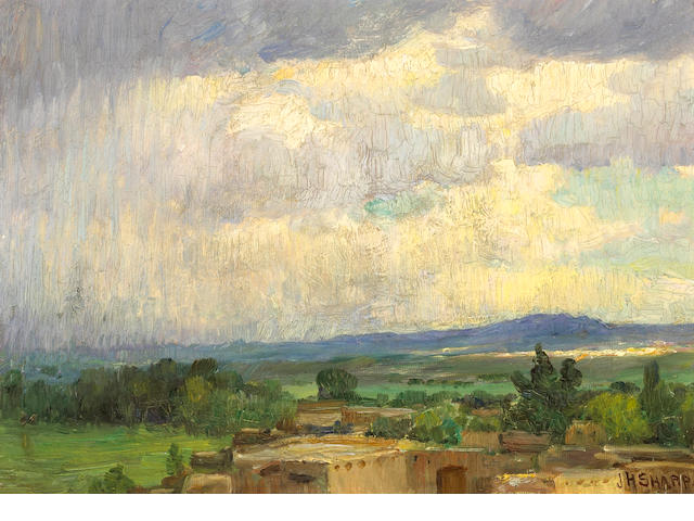 Joseph Henry Sharp From My Studio Window, Taos