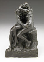 Auguste Rodin (French, 1840-1917) Le baiser, 1886/1943 (fourth reduction or little model) 9 7/8 x 6 1/8 x 6in (25.1 x 15.5 x 15.2cm)