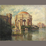 Deidrich Henry Gremke (American, 1860-1939) A view of the Palace of Fine Arts, San Francisco 16 x 20in unframed